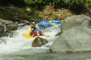 Half day adventure rafting Manuel Antonio