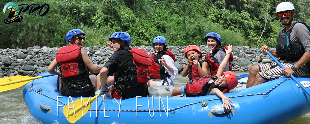family rafting savegre trip